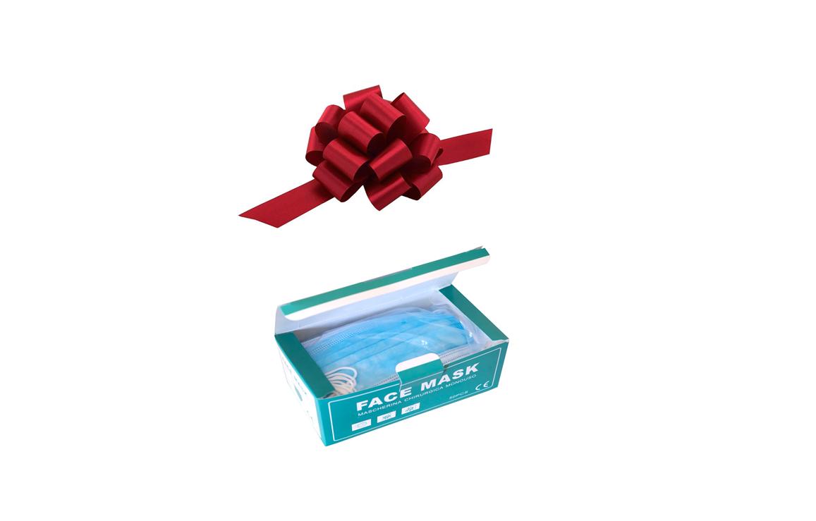 Set 4 + 1 cutie Masti cu 3 pliuri GRATIS !!! Masca facială KN 95 cu 4 straturi de protectie si filtru FFP2 ( 50 bucati/ cutie)